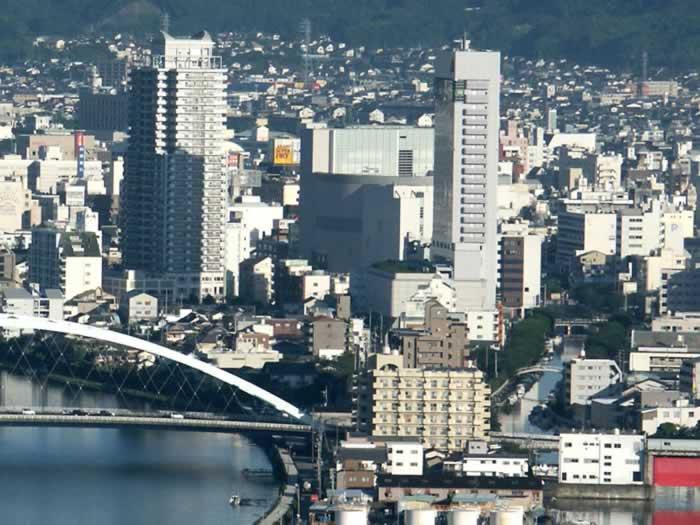 高知市中心部の写真